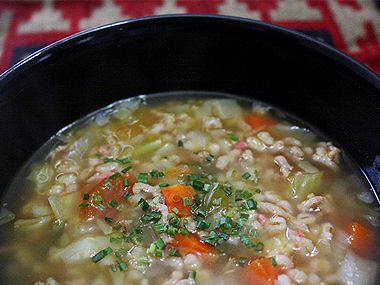 Beef Barley Cabbage Soup