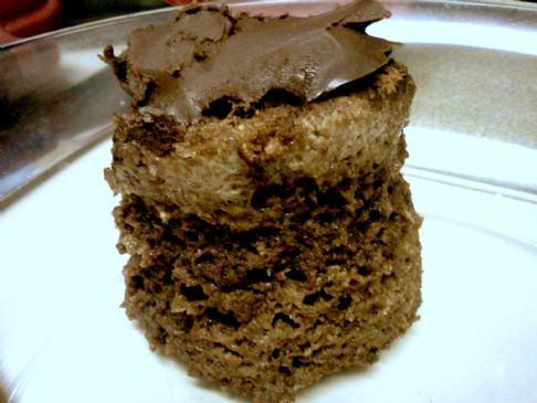Somewhat Healthy Cupcake with Chocolate Frosting