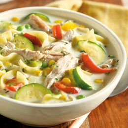 Creamy Farmhouse Chicken and Garden Soup