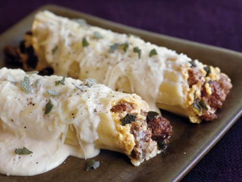 Pumpkin and Sausage Manicotti
