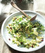 Shaved Brussels sprout, cranberry & hazelnut salad