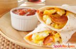 Turkey Bacon Breakfast Burritos