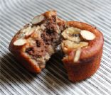 Almond Meal Banana Muffins w/ Chocolate Center