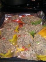 Amanda's Stuffed Peppers with Bison and Quinoa