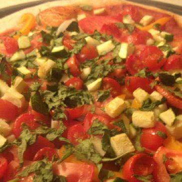 Veggie Pizza (No Cheese) Quick Prep