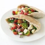 Greek Salad Pita Sandwich