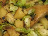 Brussel Sprouts and Potato Saut�