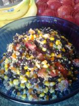 Lime Cilantro Black Bean & Quinoa Salad