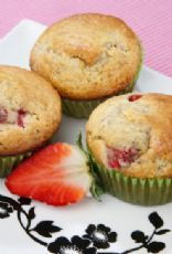 Strawberry Chocolate Protein Packed Muffins