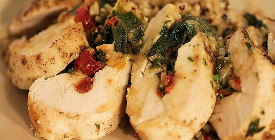 Tomato Basil Stuff Chicken Breasts **Low Fat/ Carb High Protein