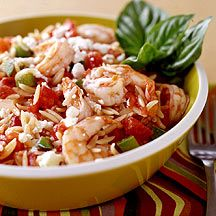 Greek Shrimp with Orzo (Weight Watchers)