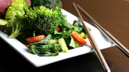 Broccoli Salad with Ginger Miso Dressing
