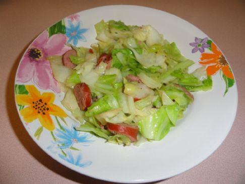 Melissa's Turkey Kielbasa & Cabbage