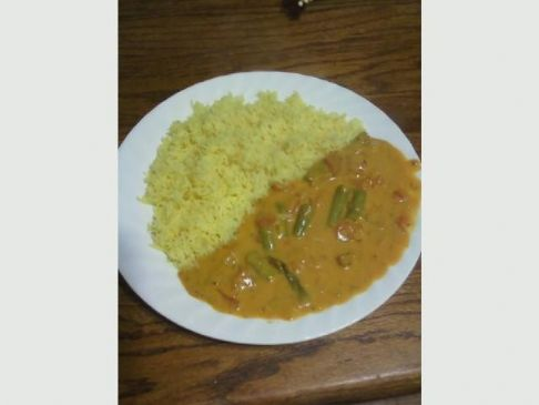 Quick Creamy Asparagus Curry