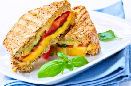 ... breakdown of Grilled Cheese Pizza Sandwich calories by ingredient