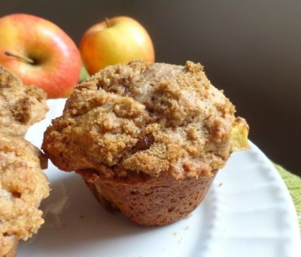 Whole wheat Apple streusel muffin