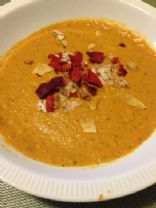 simple sweet potato and roasted vegetable soup