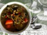 hearty mushroom farro soup