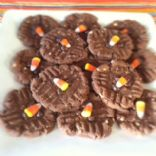 Chocolate Peanut Butter Candy Corn Cookies