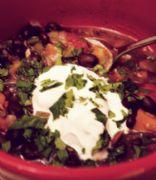 Moosewood Black Beans & Chipotle Soup