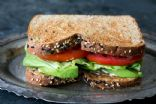 Cream Cheese, Avocado, Tomato, Spinach, & Whole Wheat Sandwich With Apple