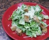 Caesar Salad (light recipe) with Greilled Corn