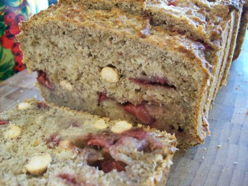 Rhubarb Compote Loaf with Fresh Strawberries