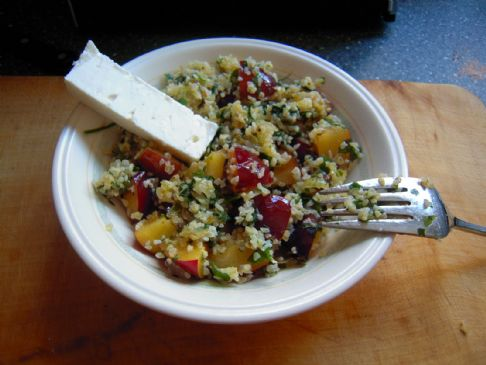 Fresh Plum Tabbouleh (from Nigel Slater,