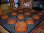 Whole Wheat Banana Applesauce Muffins