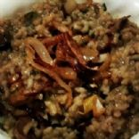 Baked Spinach Mushroom Risotto with Caramelized Onions