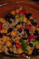 Nikkibenk's Chick Pea and Black Bean Salad