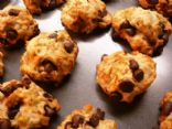 Banana Carob Chip Cookies with Crystallized Ginger