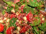 Red Quinoa Baby Spinach Salad