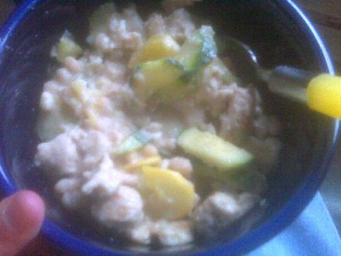 Ground Turkey with White Beans, Zucchini and Summer Squash