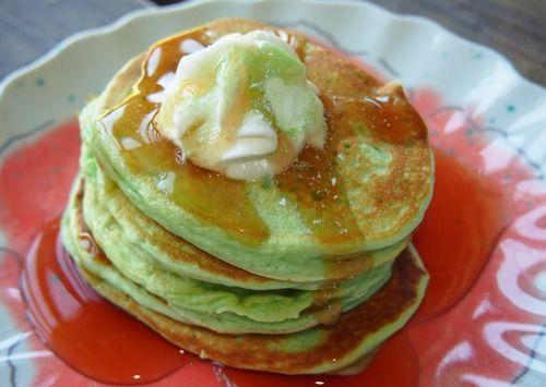 Pistachio Almond Pancakes