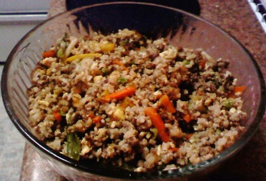 Low Calorie Rice Cake Recipes: Low Cal Low Fat Low Carb Fried Rice Recipe