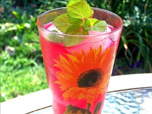 Iced Pomegranate Jasmine Chamomile Green Tea