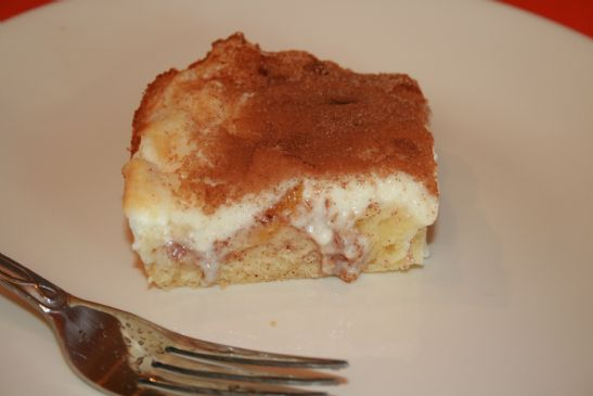 Peaches and Cream Coffee Cake, 133 cal
