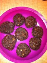 Choco oatmeal protein muffins
