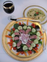 Sue-Lou Steak Salad with Blue Cheese Dressing