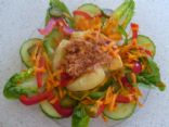 Potato Tuna and Salad Snack.