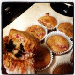 Raspberry Chocolate Chip Protein Muffins