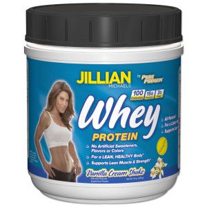 Protein Shake using Jillian Michaels Vanilla Cream Whey Protein Powder
