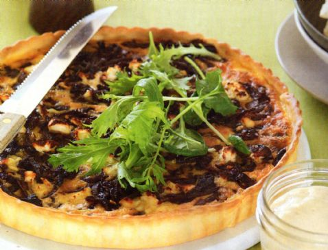 Crustless Red Onion Tart or Frittata