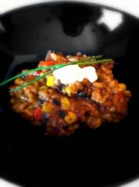 Slow Cooker Black Bean and Corn Risotto