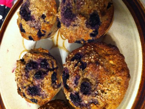 Hearty Healthy BlueBerry Muffins!