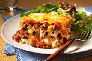 Make-Ahead Chili & Cheese Lasagne