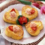 Heart French Toast with Strawberry Butter