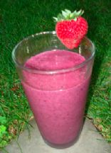 Three Berry Fruit Smoothie