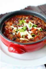Vegetarian Two Bean Spicy Chili